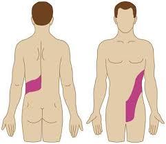 Il nodo di linfa su un collo al di sinistra a quello che il dottore ferisce fare